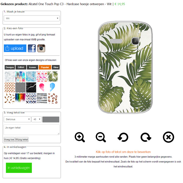 Coque Alcatel C3