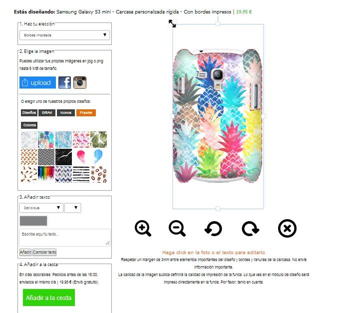 coque rigide personnalisée Samsung Galaxy S3 mini contours imprimés