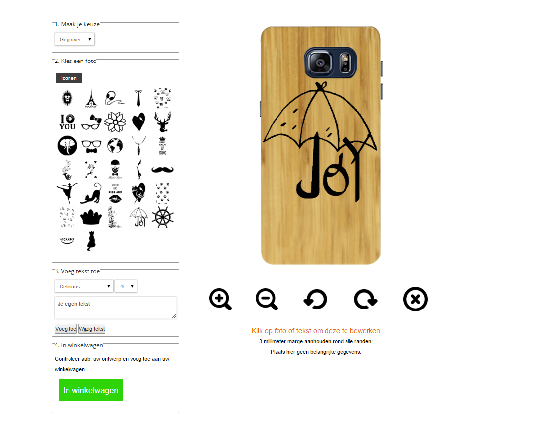 coque en bois personnalisablee Galaxy S6