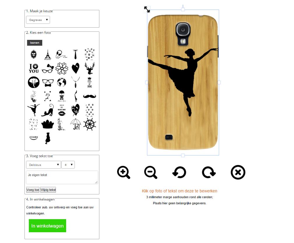 coque en bois personnalisablee Galaxy S4