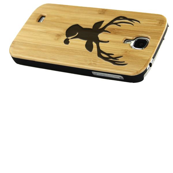 coque en bois Samsung S4 gravée