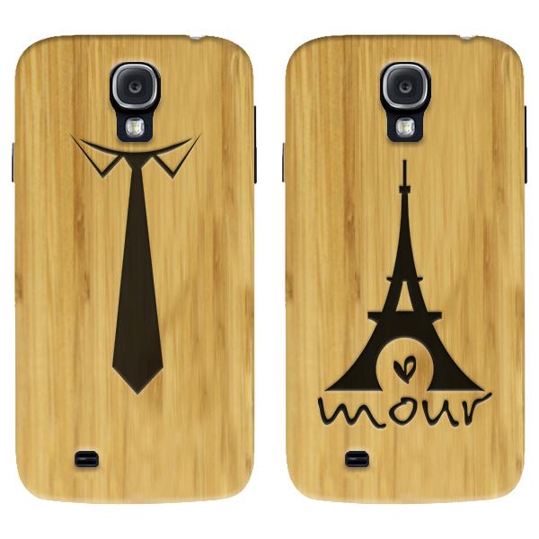 coque en bois gravée dans le bambou Samsung S4