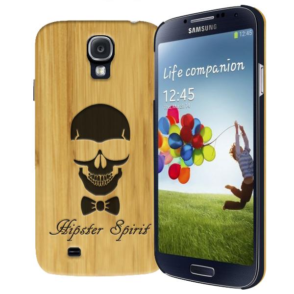 coque personnalisée Samsung Galaxy S4, coque en bois gravée