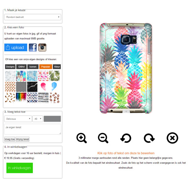 Coque personnalisée Galaxy S6 Edge PLUS impression sur les contours