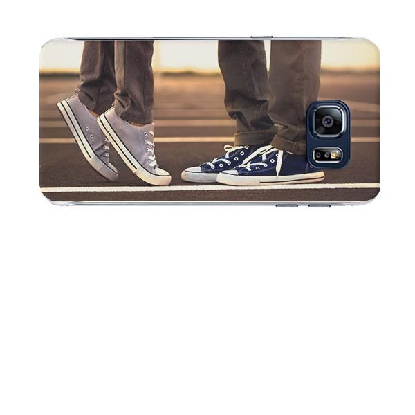 coque personnalisée Galaxy S6 Edge Plus noire, banche, transparente