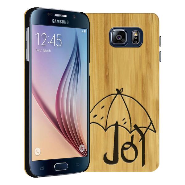 coque personnalisée Samsung Galaxy S6, coque en bois gravée
