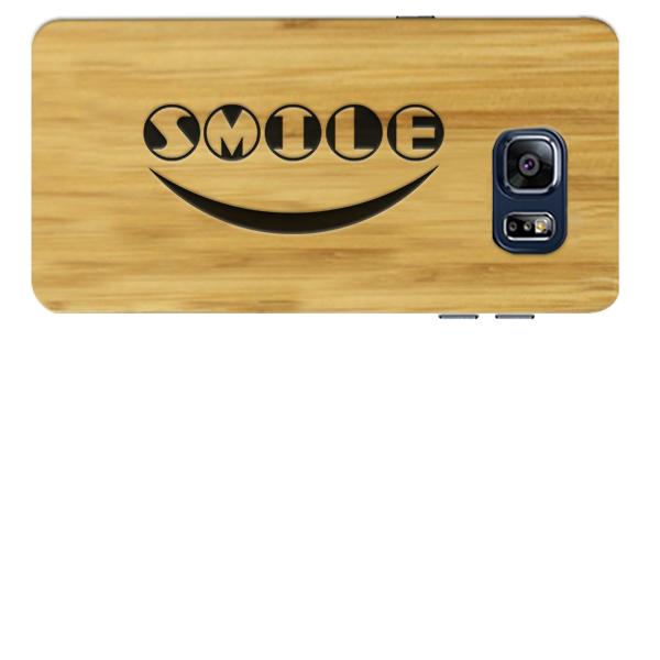 coque en bois gravée dans le bambou Samsung S6