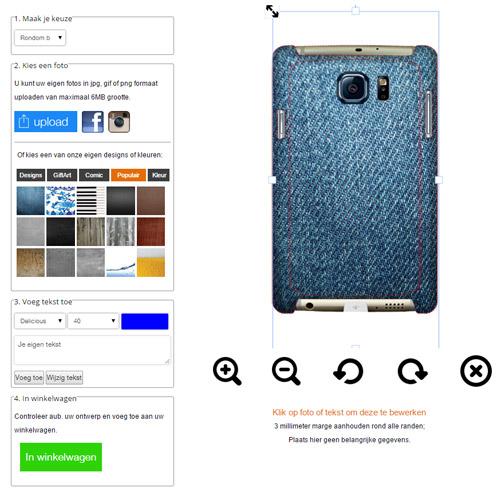 Coque personnalisée Galaxy S6 impression sur les contours