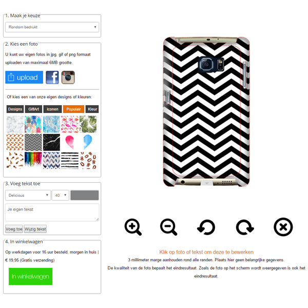 Coque personnalisée Galaxy S7 Edge impression sur la tranche