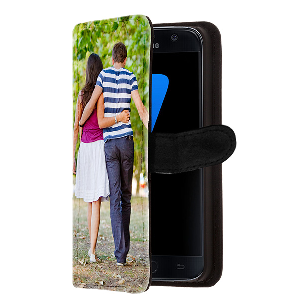coque personnalisée Galaxy S7 Edge, coque portefeuille