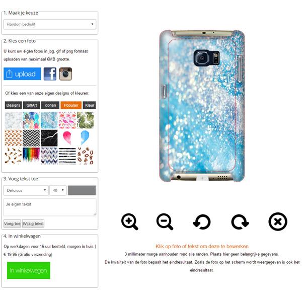 Coque personnalisée Galaxy S7 impression sur la tranche