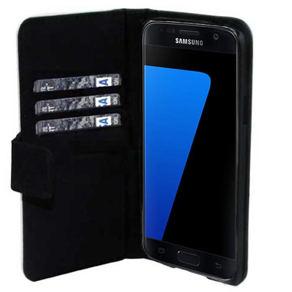 La coque Samsung Galaxy S7 Edge qui fait étui portefeuille