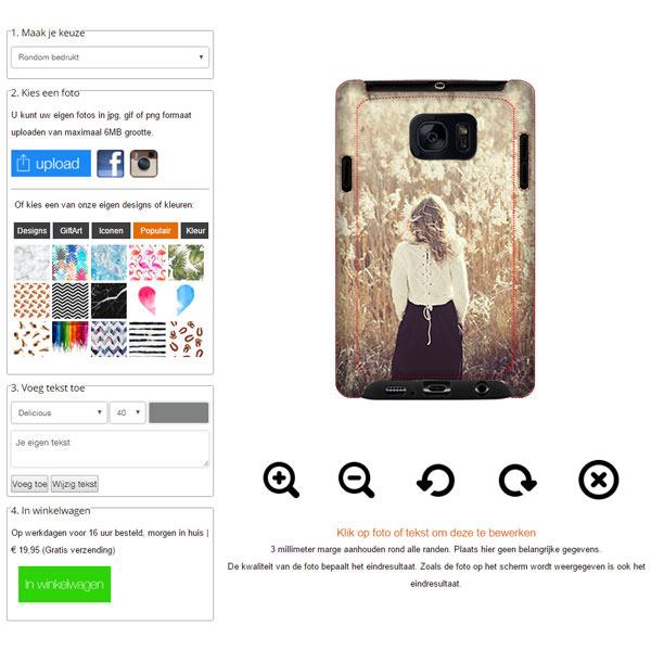 Coque personnalisée renforcée Galaxy S7 impression sur les contours