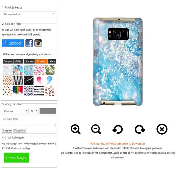 Coque personnalisée Galaxy S8 impression sur la tranche