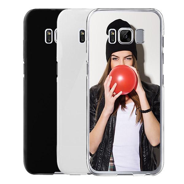coque personnalisée Galaxy S8 PLUS rigide noire, banche, transparente