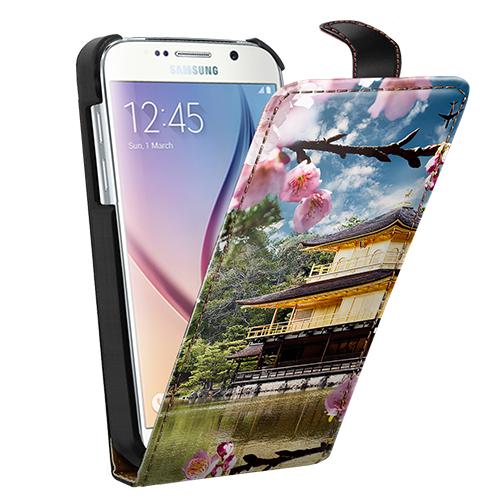 Coque personnalisée Galaxy S6 à rabat avec photo et texte