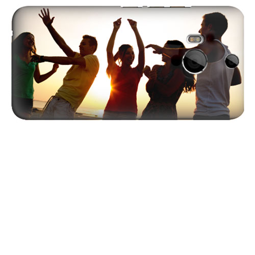 HTC One M8 coque personnalisée rigide noire blanche ou transparente