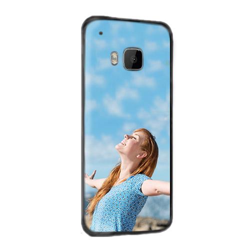 HTC One M9 coque personnalisée rigide noire blanche ou transparente