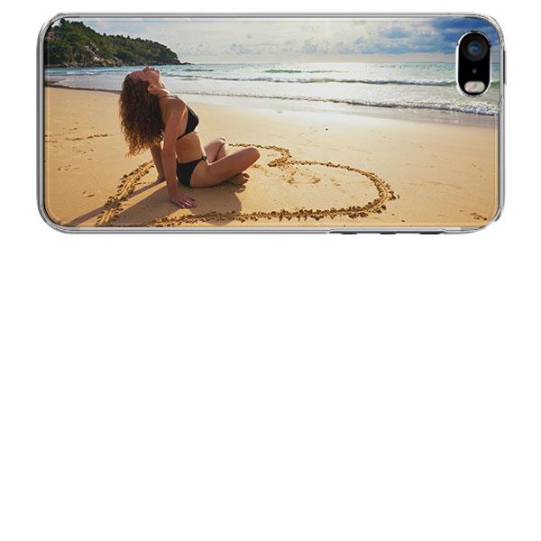 coque personnalisée iphone 5, 5S et SE coque personnalisable en silicone noir, blanc, transparent
