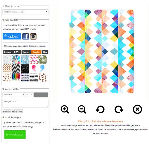 smart cover / smart case personnalisée