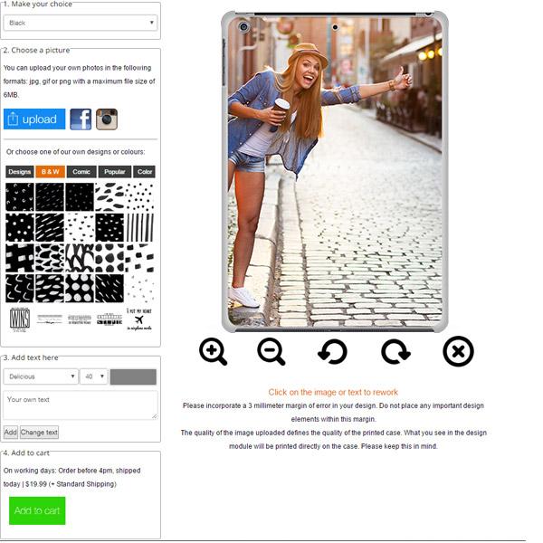 coque photo rigide iPad