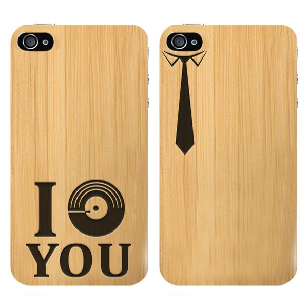 coque en bois iPhone 4S gravée