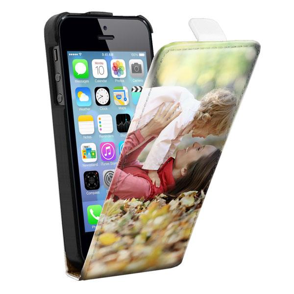 coque personnalisée iPhone 5, 5S & SE avec votre photo sur le rabat