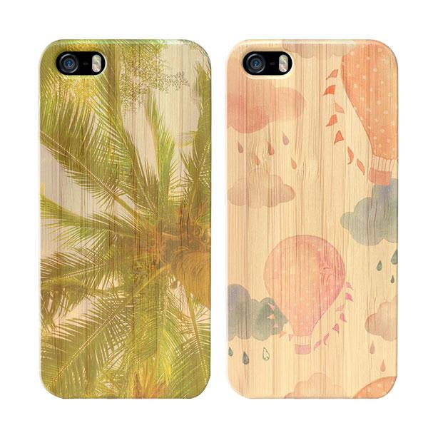 coque personnalisée iPhone 5, 5S et SE, coque en bambou