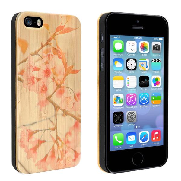 coque personnalisée iPhone 5, 5S et SE, coque en bois
