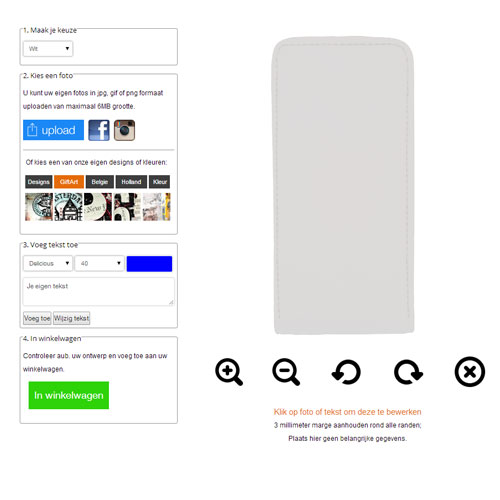 coque personnalisable iPhone 6 à rabat