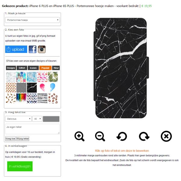coque personnalisable iPhone 6S PLUS coque portefeuille