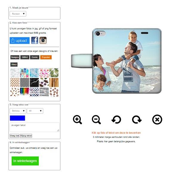 coque portefeuille iPhone 7 2 faces imprimés