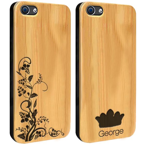 coque en bois gravée dans le bambou iPhone 6