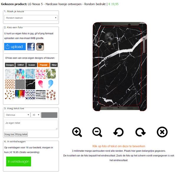 coque personnalisée LG Nexus 5 impression sur la tranche
