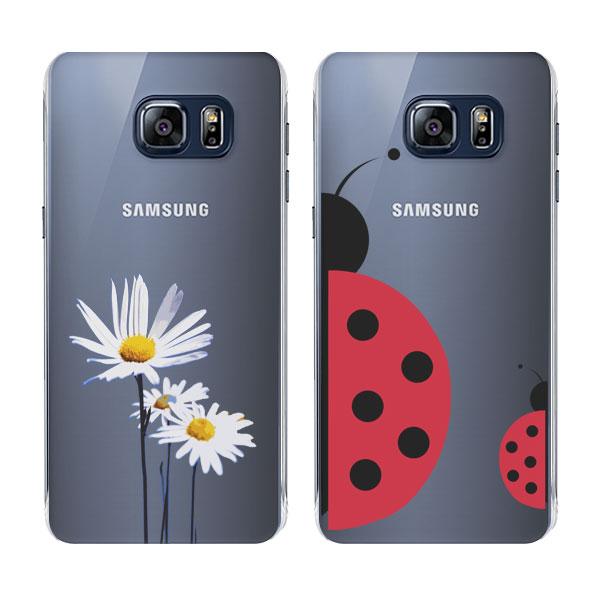 coque personnalisée Samsung Galaxy S6 Edge Plus rigide noire, banche, transparente