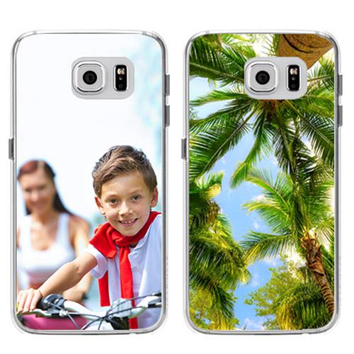 coque personnalisée Galaxy S6 en silicone transparent