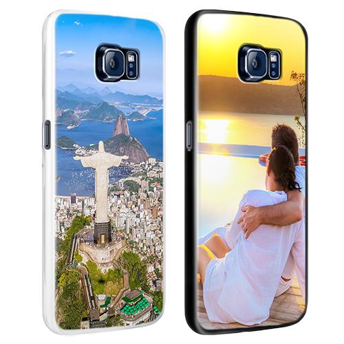 coque personnalisée Galaxy S7 rigide noire, banche, transparente